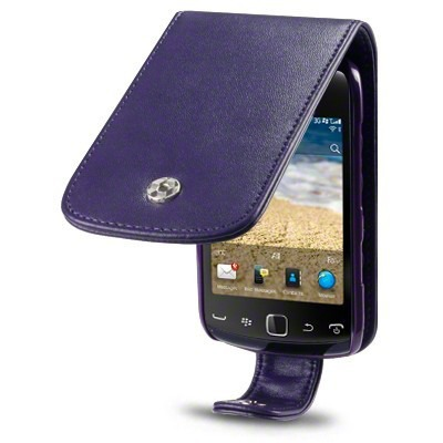Etui Terrapin do BlackBerry 9380 skórzane - fioletowy