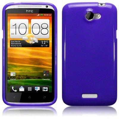Etui Terrapin do HTC One X  żelowe - Solid fioletowy