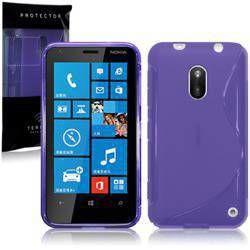 Etui Terrapin do Nokia Lumia 620  żelowe  - fioletowy