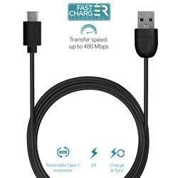 Kabel Puro Fast Charger USB TYP-C 2.0 -> USB A 2.0 1m czarny