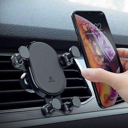 """CRONG GRAVITY AUTO-LOCK CAR HOLDER – UCHWYT SAMOCHODOWY GRAWITACYJNY DO TELEFONU 4,7""""-6,5"""" (CZARNY)"""