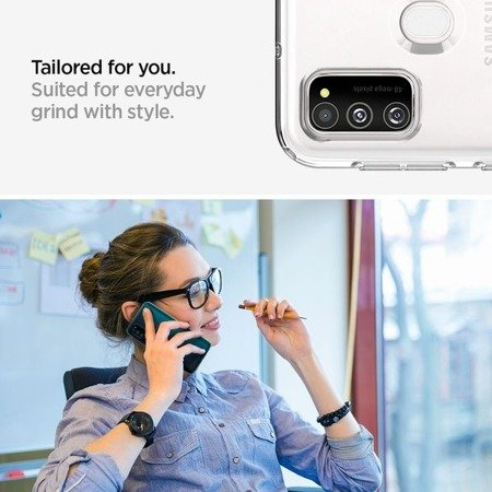 ETUI SPIGEN LIQUID CRYSTAL GALAXY M21 CRYSTAL CLEAR