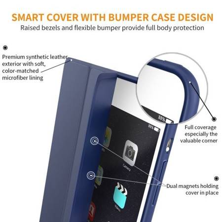 ETUI TECH-PROTECT SMARTCASE IPAD 2/3/4 NAVY BLUE