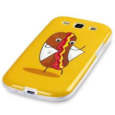 Etui Call Candy do Samsung i9300 Galaxy S3 żelowe - hot dog