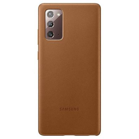 Etui Do Samsung Note 20, Brązowy, Leather Cover