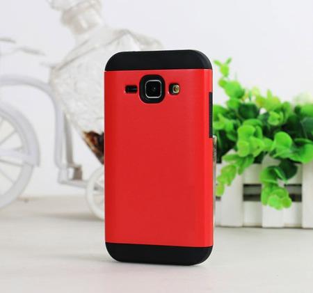 Etui HYBRID case do Samsung Galaxy J1 czerwone