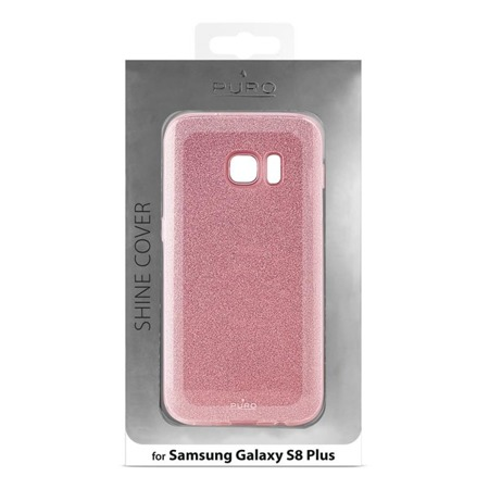 Etui PURO Glitter do Samsung Galaxy S8 Plus błyszczące złoty róż