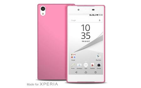 "Etui PURO Ultra Slim ""0.3"" Cover + folia na ekran Xperia Z5 różowe"