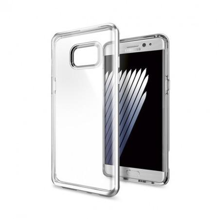 Etui SPIGEN SGP Neo Hybrid Crystal do Samsung Galaxy Note FE / Note 7 przeźroczysto - srebrne