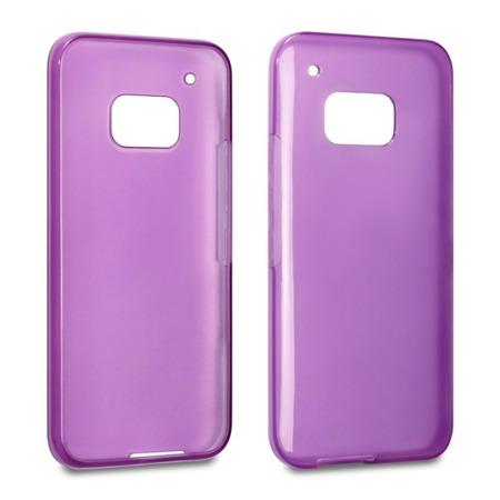 Etui Terrapin do HTC One M9 żelowe - fioletowe przeźroczyste