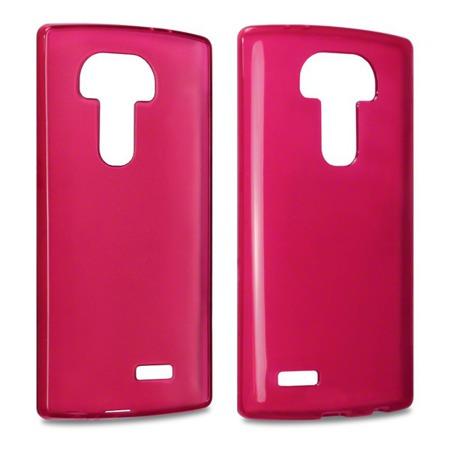 Etui Terrapin do LG G4 żelowe czerwony przeźroczysty