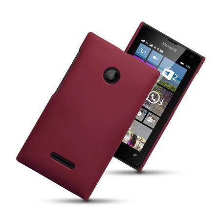 Etui Terrapin do Nokia Lumia 435 hybrydowe czerwone