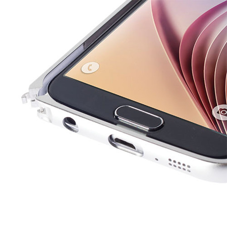 Etui bumper Krusell do Samsung Galaxy S6 srebrne