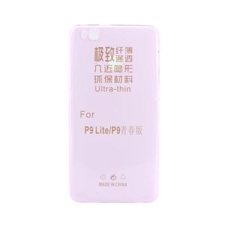 Etui silikonowe do Huawei P9 Lite ultra cienkie - przeźroczysto różowe