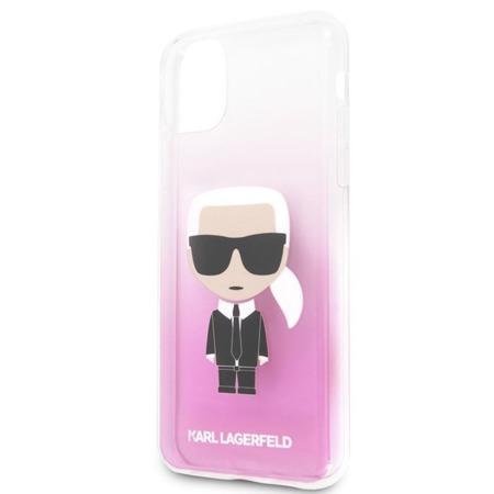 KARL LAGERFELD ICONIC KARL GRADIENT - ETUI IPHONE 11 PRO MAX (RÓŻOWY)