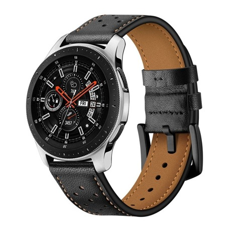 Pasek Tech-Protect Leather Black Samsung Watch 46 MM - czarny