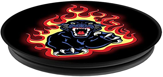 Uchwyt do selfie na telefon PopSockets - Panther Flames